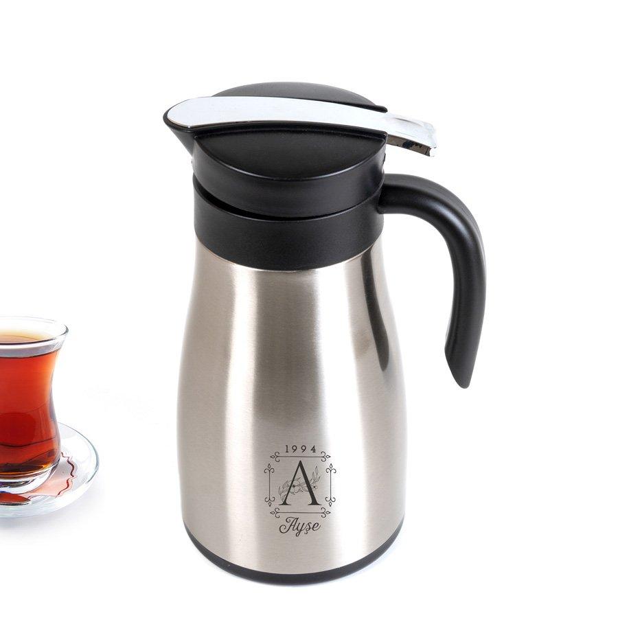 İsme Özel Harf Tasarımlı 2 Litre Çelik Çay Termosu