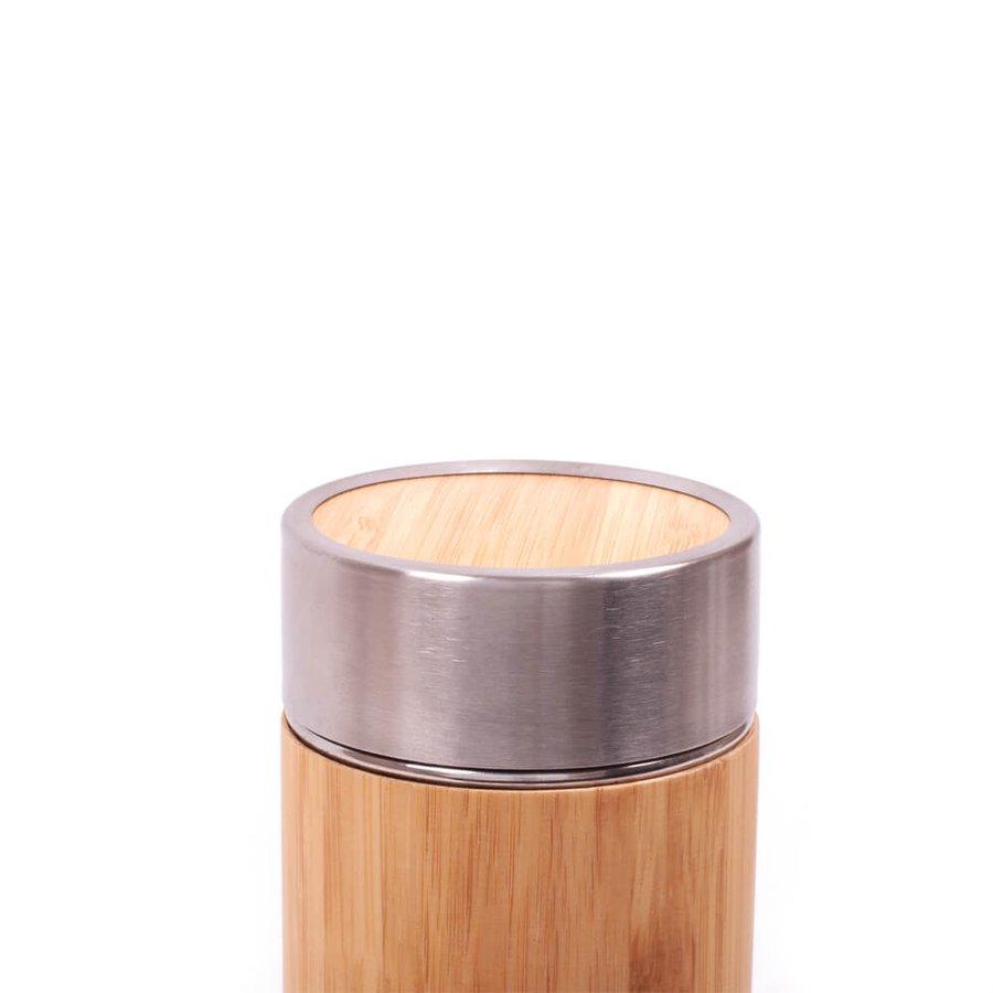Kişiye Özel Bambu Çelik Termos