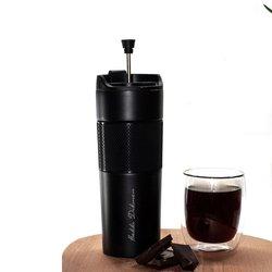 Hediyesec - Kişiye Özel İmza Tasarımlı French Pressli Çelik Termos Siyah