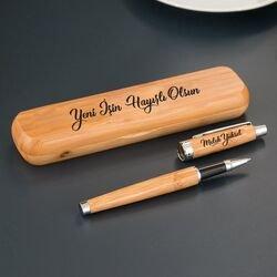 Hediyesec - Kişiye Özel Mesajlı Bambu Kalem