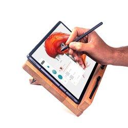 Masif Ağaç Cilalı Ayarlanabilir Kişiye Özel Tablet ve Kitap Okuma Standı - Thumbnail