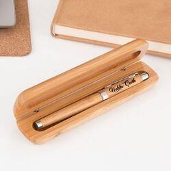 Öğretmene Hediye Bambu Roller Kalem - Thumbnail