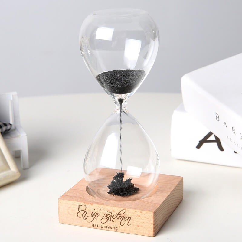 Öğretmene Hediye İsme Özel Manyetik Kum Saati
