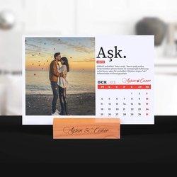 Sevgiliye Hediye Fotoğraflı Aşk Takvimi - Thumbnail